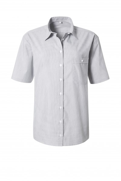 Pionier Business Damen Bluse 1/2 Arm grau/weiß fein gestreift 99670
