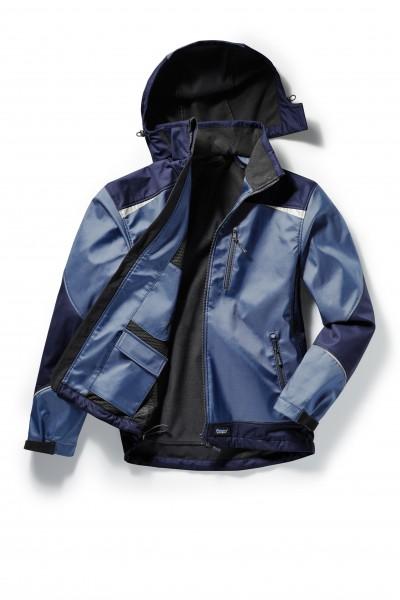 Pionier Softshell-Jacke 2-farbig nordic blue/marine 5865