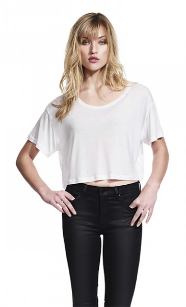 Continental® Fashion Damen Oversized Cropped Top T-Shirt N91