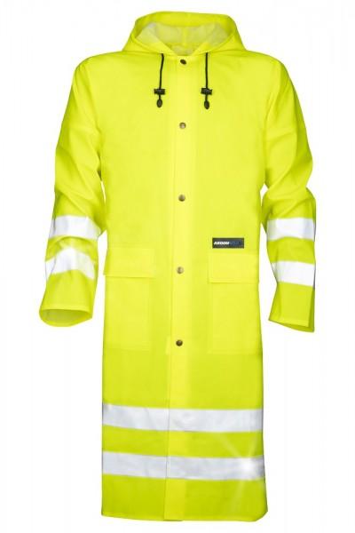 Ardon AQUA 1102 Wasserdichte Regen- Warnschutzcape mit Kapuze und Ärmeln Gelb H1181