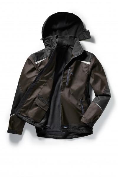Pionier Softshell-Jacke 2-farbig braun/schwarz 5863