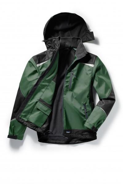 Pionier Softshell-Jacke 2-farbig flaschengrün/schwarz 5867