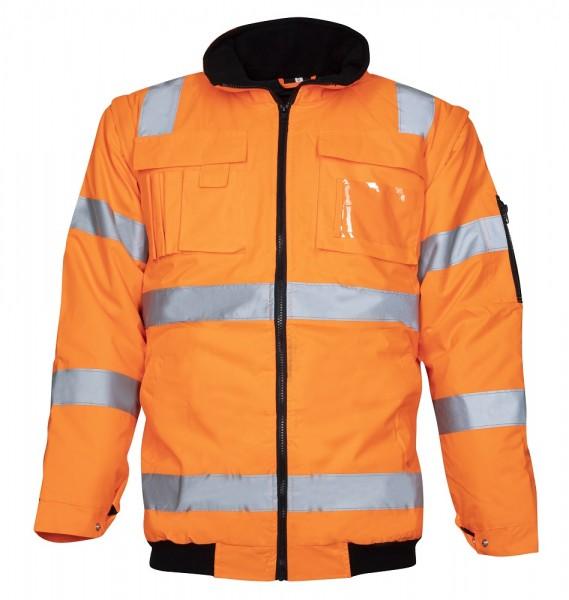Ardon Howard Reflex Wasserdichte Herren Warnschutzjacke mit abnehmbarer Kapuze und Ärmeln Orange H8