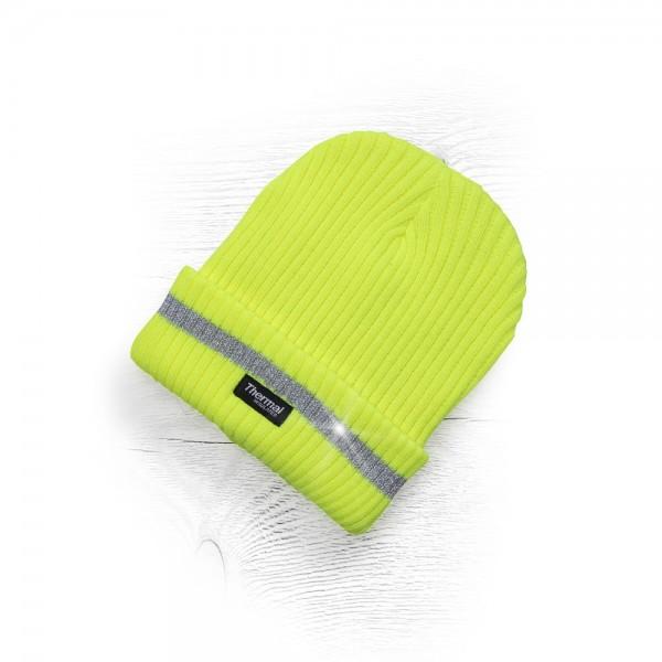 Ardon Wintermütze mit Fleecefutter und Reflexstreifen H6053 Gelb