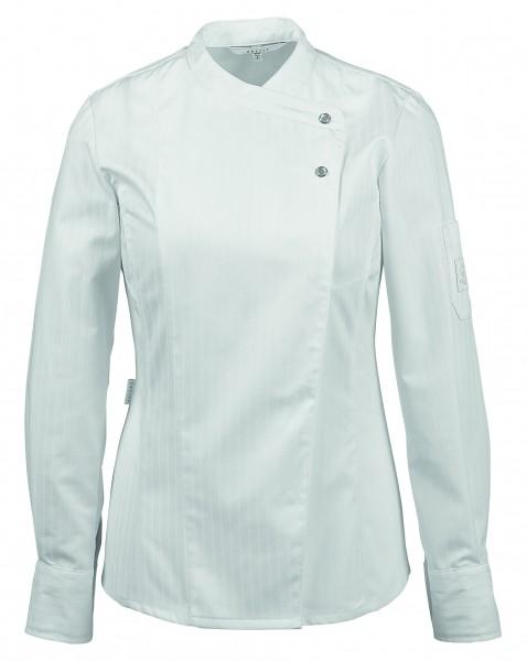 Greiff GM Cuisine Premium Damen-Kochjacke mit Satinstreifen 5411