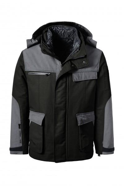 Pionier Outdoor-Jacke schwarz/grau 5880
