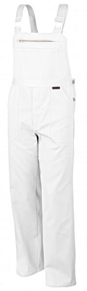 Qualitex Latzhose favorit BW 320 weiß mit Knietaschen
