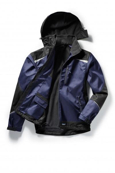 Pionier Softshell-Jacke 2-farbig marine/schwarz 5862