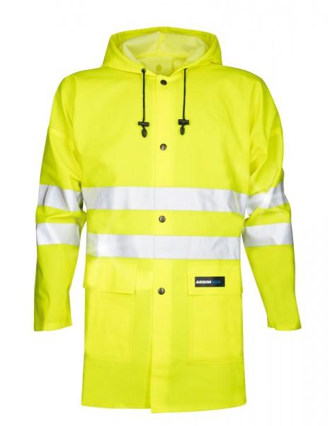 Ardon AQUA 1101 Wasserdichte Regen- Warnschutzjacke mit Kapuze und Ärmeln Gelb H1179