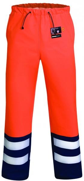 Ardon AQUA 512 Wasserdichte Regen- Warnschutz-Bundhose Orange Schwarz H1188