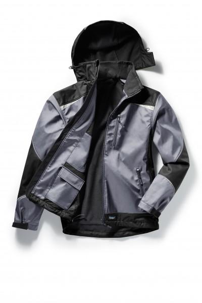 Pionier Softshell-Jacke 2-farbig grau/schwarz 5861