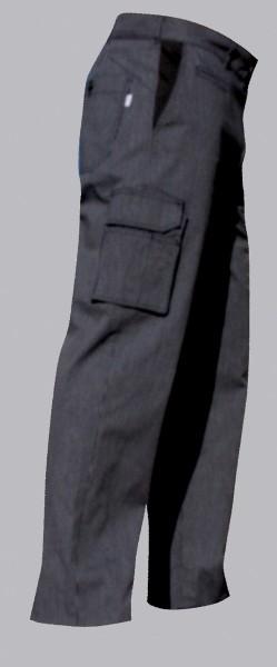 Hiza Kochhose schwarz/weiss streifen 134390
