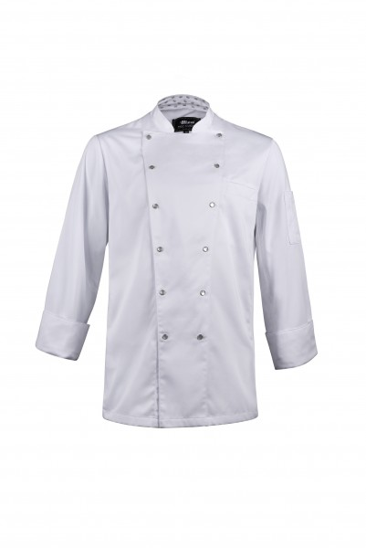 Hiza Cooltex Moving-Satin-Chefjacke weiss 534671