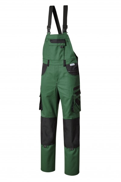Pionier Tools Plus Latzhose grün/schwarz 15437