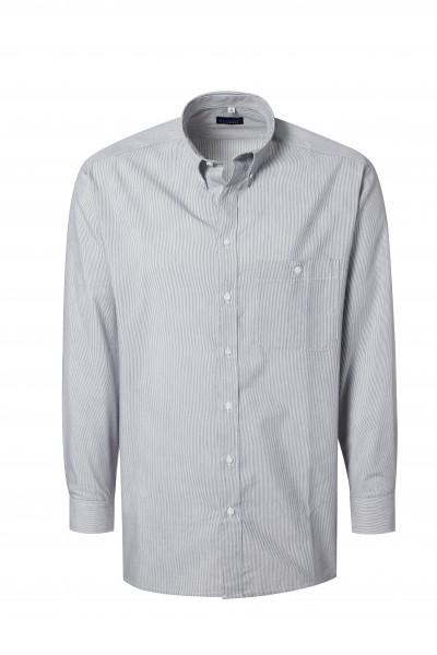 Pionier Business Herren Hemd 1/1 Arm grau/weiß fein gestreift 99160