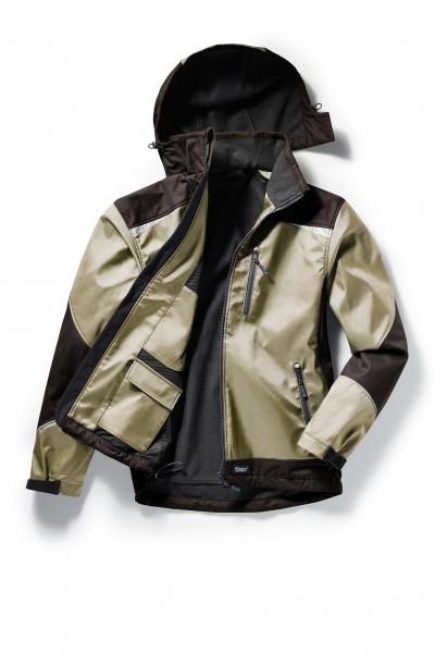Pionier Softshell-Jacke 2-farbig beige/braun 5866